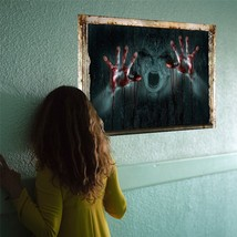 Wall Mural Decor Halloween Party Scary Prop Spooky Door Cover Home Creep... - €8,45 EUR