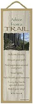 Advice from a Trail primitive wood plaque, sign  Licensed from Your True... - $14.99