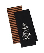 Trick or Treat Kitchen Towel Set of 2 Halloween Dish 100% Cotton Embroid... - $19.79
