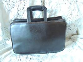 Vtg Jack Georges Brown Leather Briefcase Bag Laptop Tablet Case PORTFOLIO - $69.99