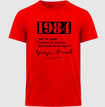 1984 GEORGE ORWELL - NEW COTTON RED TSHIRT - $25.43