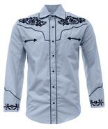 Men's Charro Shirt Camisa Vaquera El General Western Wear Baby Blue - €29,72 EUR+