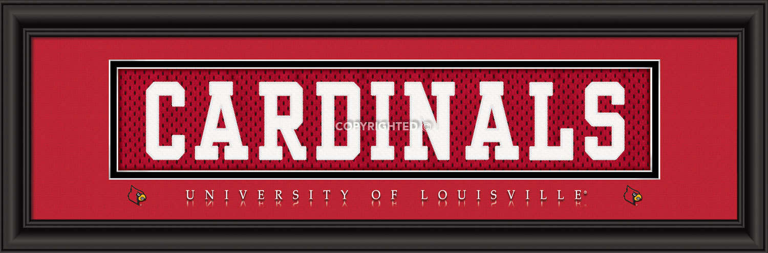 Primary image for Louisville Officially Licensed Stitched Jersey Framed Print - 2 Designs