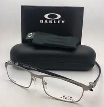 New Oakley Eyeglasses Tincup Carbon OX5094-0452 52-17 Powder Steel-Carbon Fiber - $299.99