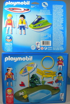 Playmobil Lot 2 Jet Ski Surfer 5925 & Wading Swimming Pool 4140 New In Box - $18.50