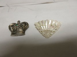 Costume Jewelry , Ladies Pin / Brooch, Vintage  , Lot of 2 , Crown , She... - $40.00
