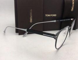 New TOM FORD Classic Eyeglasses TF 5482 001 50-21 Black & Silver Titanium Frames image 5