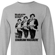Texas Chainsaw Massacre long sleeve t-shirt retro horror movie graphic t... - $24.99+