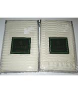 2 Ralph Lauren 52ND Street Jacquard Cream Jacquard Pillow Shams New - $59.99