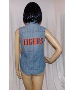 Detroit Tigers Denim Sleeveless Shirt Vest for Women by Feed USA MLB Bas... - $16.78