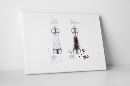 """Salt and Pepper Shakers Kitchen Wall Art Gallery Wrapped Canvas. 30""""x20 or 20""""x1 - $44.50+"""