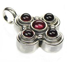 Gerochristo 5362 -  Sterling Silver & Garnet Byzantine Medieval Cross P... - $210.00