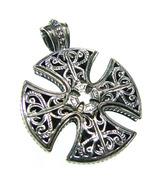 Gerochristo 5417 -  Sterling Silver Maltese Cross Pendant  - $178.00