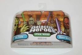 Star Wars Galactic Heroes Kit Fisto and Mace Windu NIB - $14.84