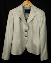 Giorgio Armani Black Label 100% Silk Women's Blazer Jacket Sz EU 46, US 12 - $148.45