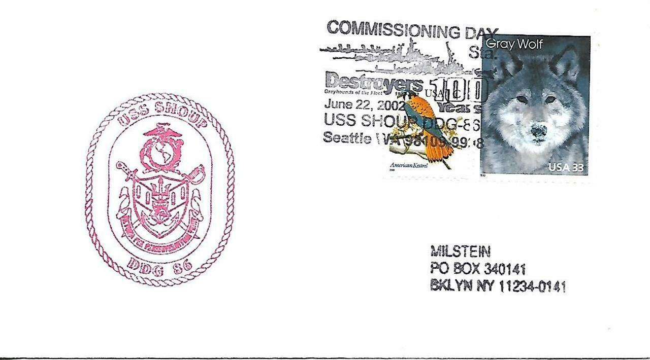 SHOUP (DDG-86) 22 June 2002 First Day in Commissioning USPS Pictorial Cancel
