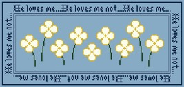Loves Me Loves Me Not PDF cross stitch chart John Shirley new designer - $89,02 MXN