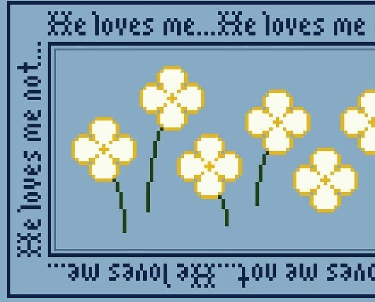 Loves Me Loves Me Not PDF cross stitch chart John Shirley new designer