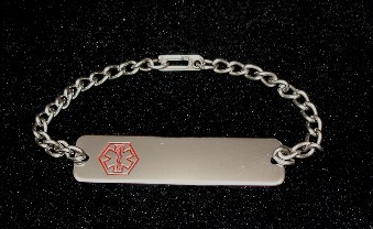 Mans Medical ID bracelet Free Engraving