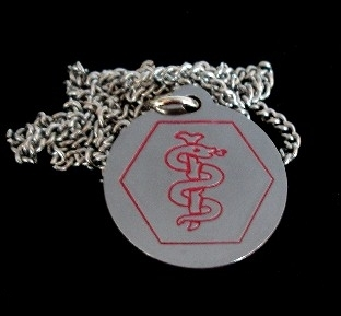 Medical ID Necklace - Free Engraving