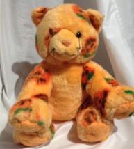 build a Bear Halloween Pumpkin jack o lantern plush Kitty cat kitten stu... - $12.19