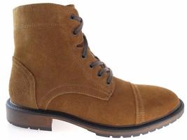 BASS MACBECH MEN'S TAN CAP-TOE SUEDE BOOTS Size 7.5 #2745-261 - $59.49