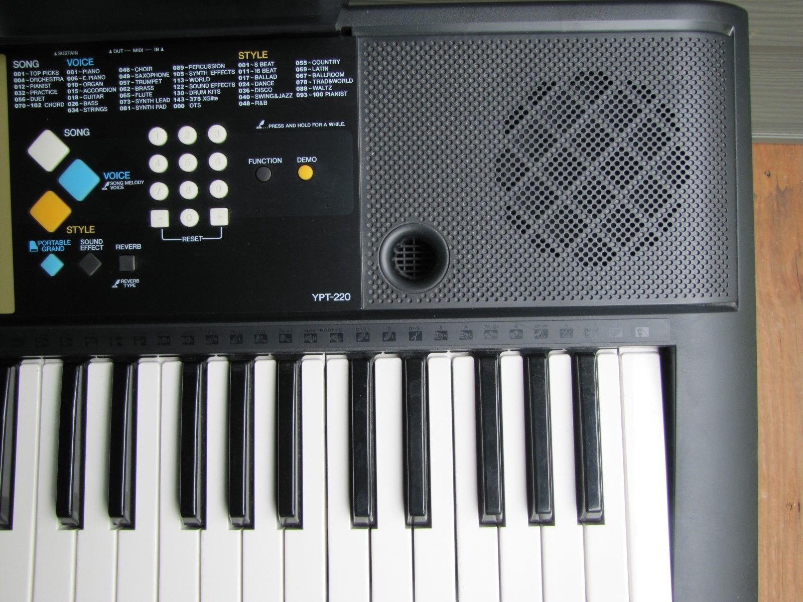yamaha electronic keyboard model ypt 220 iob and 50 similar items rh bonanza com Toyota Manual Book Owner's Manual