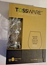 TOSSWARE 14oz Vino - Recyclable Wine Plastic Cup -SET OF 12 - Drink-Toss-Recycle image 1
