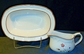 Cumberland Stoneware Mayblossom Gravy Bowl & Serving Pitcher AA-192035-E  Vintag image 1