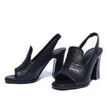 High Peep Heeled Sexy Sanda FEDONAS Leather New Genuine Shoes Fashion Women Toe nfxqOzwg