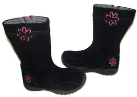 Girls Keen Suede Boots size 13--Blk/pink&grey flower - $15.00
