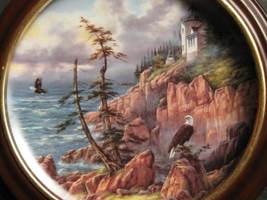 Framed Plate-Vigilant Beacon from God Bless America Series-Danbury Mint image 4