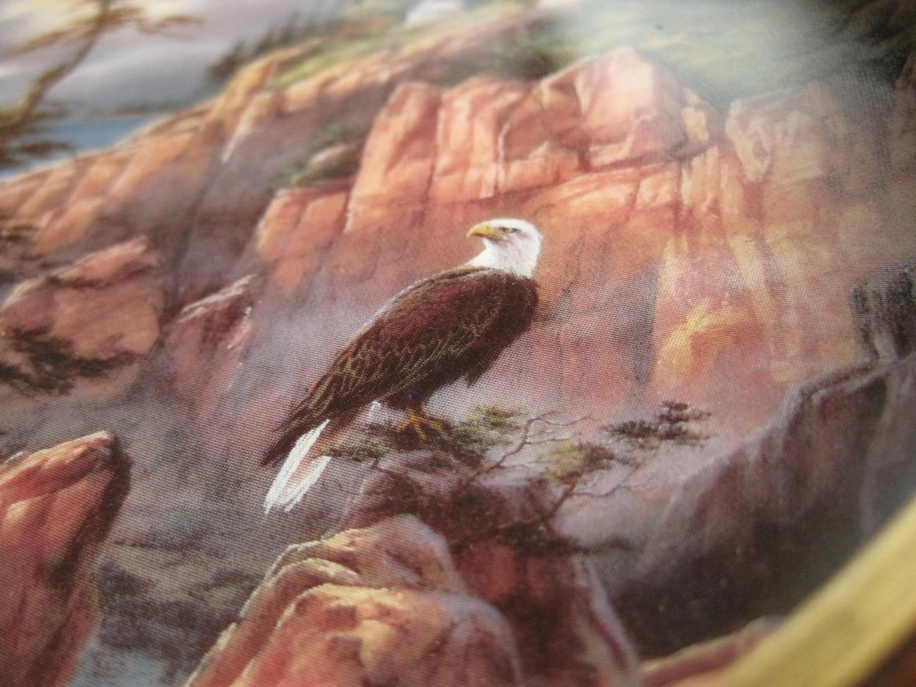 Framed Plate-Vigilant Beacon from God Bless America Series-Danbury Mint