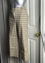 $79 TALBOTS Stretch Cotton Geometric Crop Capri Pants 12P Petite EUC - $19.75