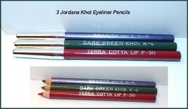 New Lot of 3~Jordana KHOL Cosmetics Eyeliner Terra Cotta~ Dark Green~ La... - $5.25