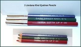 New Lot of 3~Jordana KHOL Cosmetics Eyeliner Terra Cotta~ Dark Green~ Lavender - $5.25
