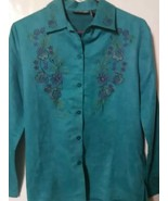 Fashion Classic Shirt Blouse Size Small Floral ... - $14.99