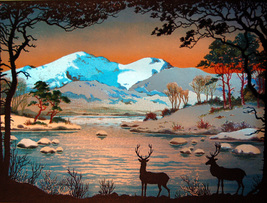 Deer at the Stream (Dufex Foil Print #158942) - $4.99