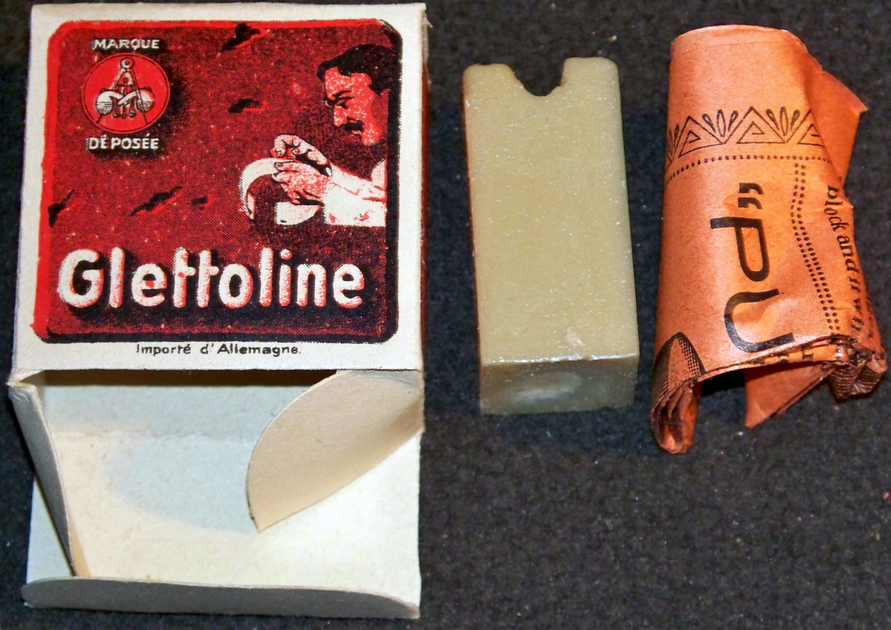 Unique! Glettoline / Glattolin Collar Wax , 1910's