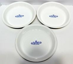 "3 Vintage Corning Ware Blue Cornflower Pie Plates P-309 9"" - $20.10"