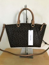 Calvin Klein Signature Brown Tan Satchel Msrp $178 - $74.80