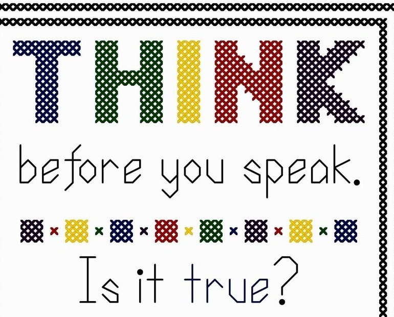 Think Before You Speak bright PDF cross stitch chart John Shirley new designer
