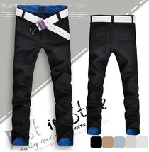 Fashion Men's Spring Sumer Autumn Slim Pants Pencil Skinny Classic Jeans Asian S image 2