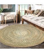 Petate Wild Tule Rush Straw Round Rug Handwoven Palm Organic floor mat 5... - £179.88 GBP