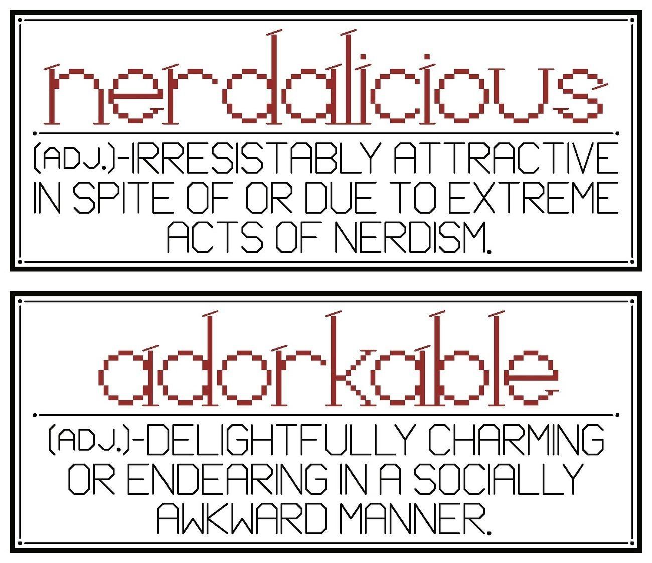 Nerdalicious adorkable