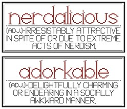 Nerdaliscious and Adorkable PDF cross stitch chart John Shirley new designer - $89,02 MXN