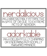 Nerdaliscious and Adorkable PDF cross stitch chart John Shirley new desi... - $5.00