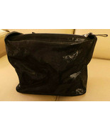 Rare vintage Kate Spade Black Irredescent Leather, Suede LIning, Made It... - $222.74