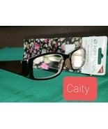 Strong +3.50 Sight Station Caity Foster Grant Reading Glasses + Cases Sp... - $9.79