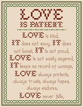 Love is Patient PDF cross stitch chart John Shirley new designer - $89,02 MXN